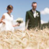 Hochzeitspaar im Getreidefeld