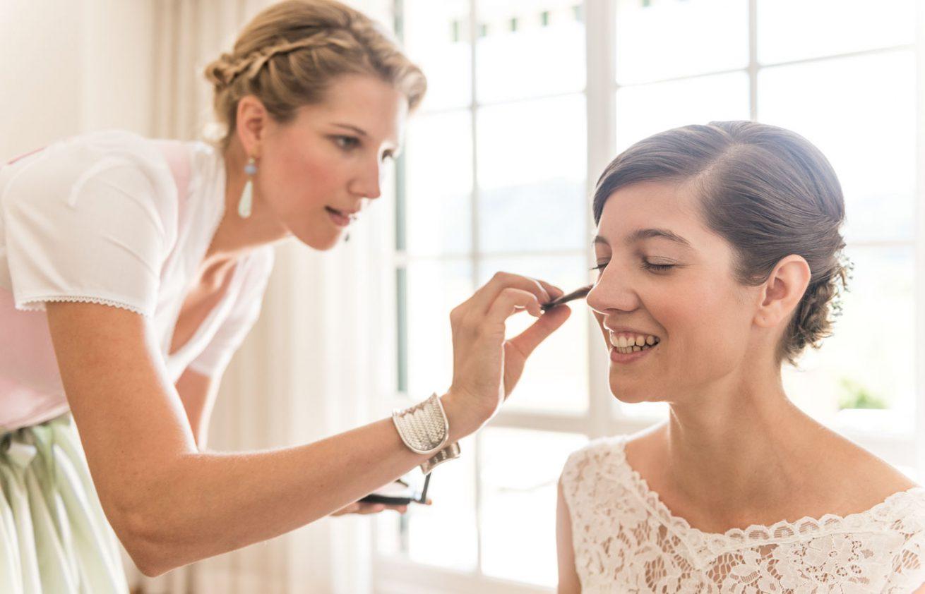 Schminken der Braut